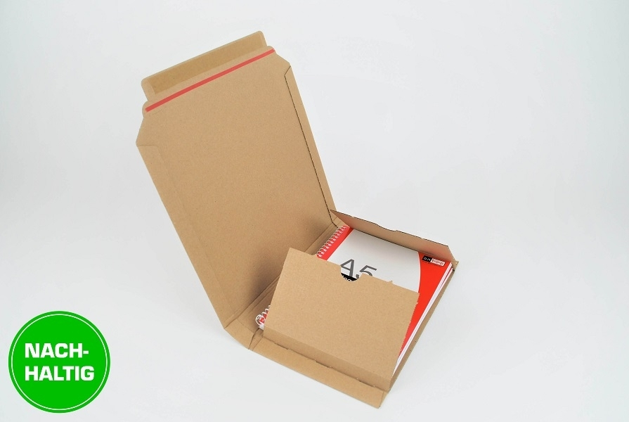 Nachhaltige selbstklebende Buchverpackungen mit Aufreißfaden