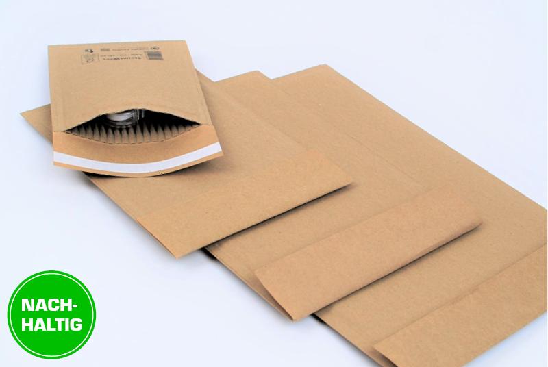 Papierpolsterversandtaschen als nachhaltige Alternative zu Luftpolstertaschen