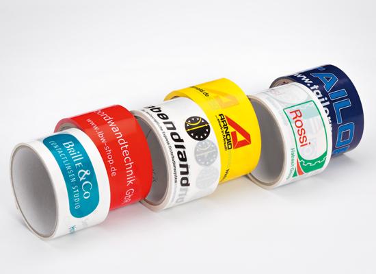 Selbstklebende Verpackungsklebebänder aus Folie mit individuellem Werbeaufdruck