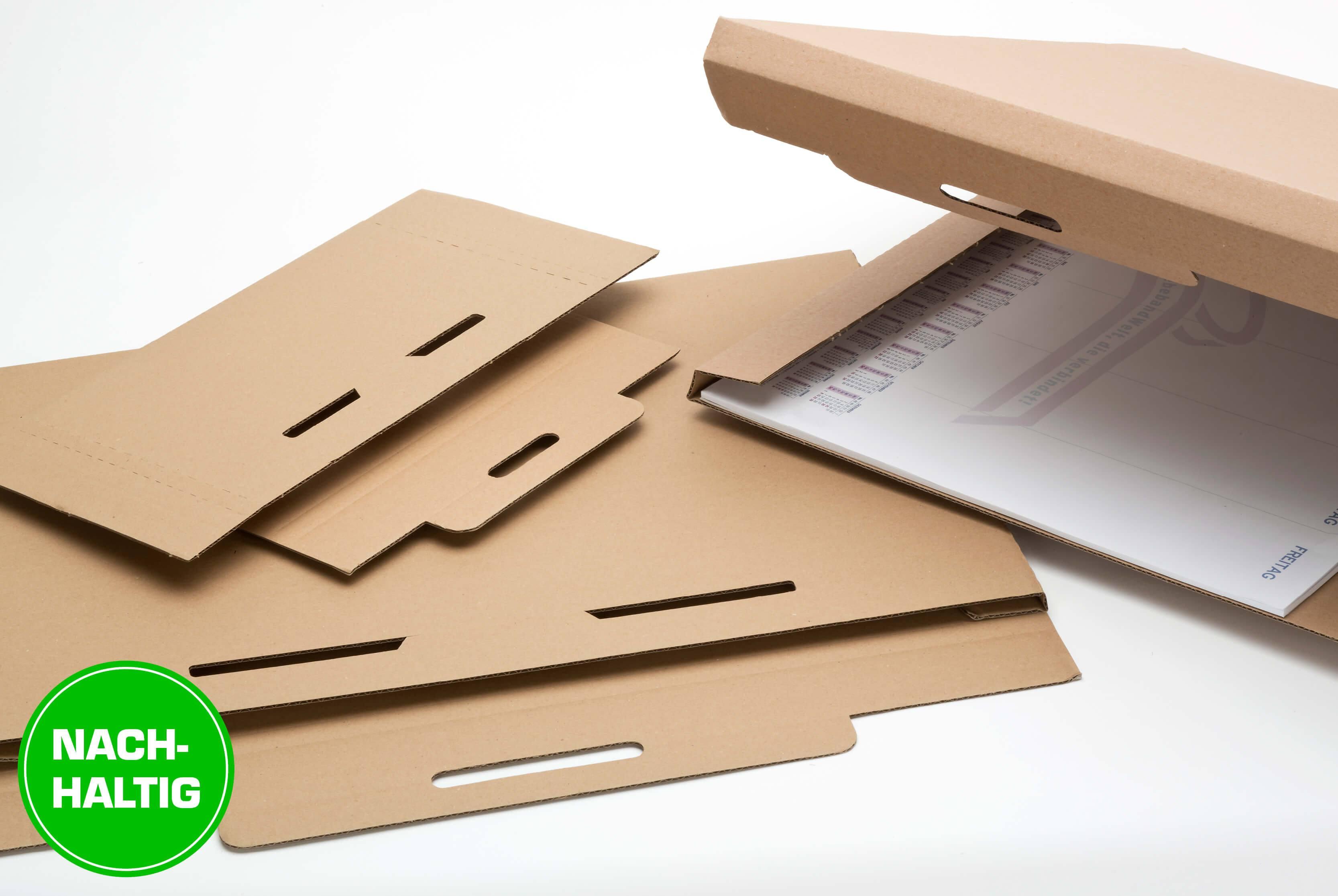 Nachhaltige Kalenderverpackungen für Postversand